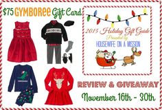 Housewife on a Mission: Kids Holiday Wear from Gymboree {Review + A $75 Gift Card Giveaway} | 2015 Holiday Gift Guide