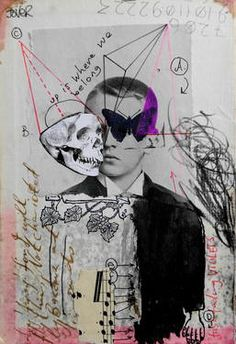 "Saatchi Art Artist Loui Jover; Collage, ""the reluctant poet"" #art"