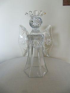 garden art glass angel glass angel angel by ADelicateTouch1
