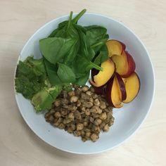 Tamarind Chickpeas, Avocado, Nectarine and Spinach.