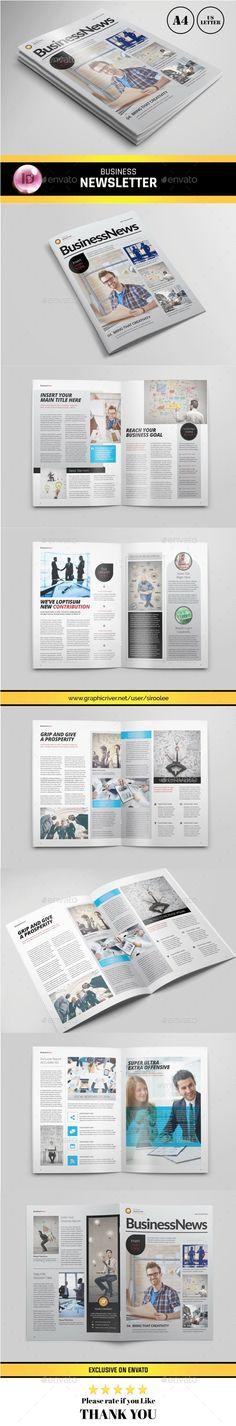 Corporate Business Newsletter Template  Newsletter Templates