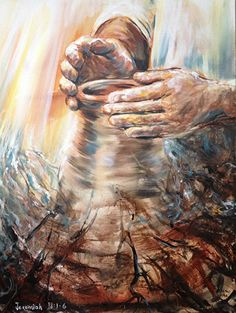 Potter s Hands by Melani Pyke - 5 Then the word of the Lord came to me 6 He said Can I not do with you Israel as this potter does declares the Lord Like clay in the hand of the potter so are you in my hand Israel Jeremiah 18 NIV Pictures Of Jesus Christ, Bible Pictures, Religious Pictures, Christian Paintings, Christian Art, Lds Art, Bible Art, Jesus Art, God Jesus