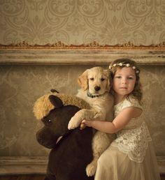 Princesses & Puppies - Lavender & Lime Studio | Des Moines Children Photographer