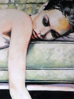 "Saatchi Online Artist: thomas saliot; Oil 2013 Painting ""Vanessa"""