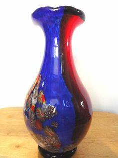 Amazing Vintage Italian Millifiori Hand Blown Murano Art Glass Vase Listing in the Italian & Venetian,Art Glass,Glass,Porcelain, Pottery & Glass Category on eBid United States
