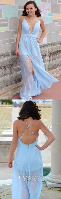 Blue Prom Dresses Long, Chiffon Formal Evening Dresses For Teens, A Line Military Ball Dresses With Slit, Backless Pageant Graduation Party Dresses For Teens Spring Formal Dresses, Prom Dresses Long Modest, Formal Dresses Online, Vintage Formal Dresses, Formal Dresses For Teens, Best Prom Dresses, Formal Dresses For Weddings, Prom Dresses Blue, Cheap Prom Dresses