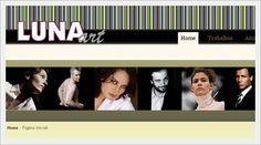 Website para Empresa Luna Art, Produções Artísticas