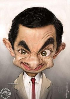 #mrbean Celebrities are famous because of their work. Now days, the funny caricatures of popular celebrities are too popular because of the humorous creativity. A caricature is picture that amplifies or distorts the essence of any individual to make an easily identifiable image.