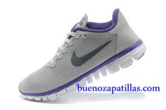new style 6eefe 3b8a2 Mujer Nike Free 3.0 V2 Zapatillas (color   vamp - gris , logotipo - negro