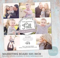Fall Autumn Marketing Board Template IW012 from Paper Lark Designs #photography #templates #minisessions #fall #autumn