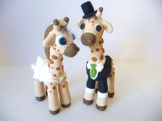 Giraffe Wedding Cake Topper  Choose Your Colors by topofthecake, $69.00
