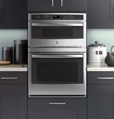 """GE Profile Series 30"""" combination Double Wall Oven with Convection and Advantium Technology                                       Model # PT9800SHSS"""