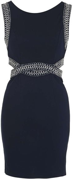 Womens navy bodycon dress from Topshop - £55 at ClothingByColour.com