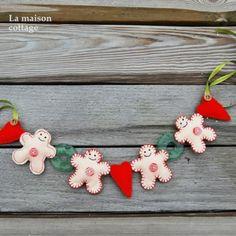 """Girlanda Świąteczna"""" Gingerbread Man"""" w La maison cottage na DaWanda.com"""