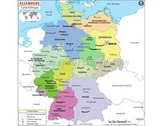 7 best french language maps images on pinterest map store cards allemagne carte politique germany political vector map gumiabroncs Choice Image