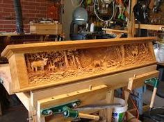 carved mantels with bears - Google Search
