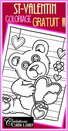 I created this « Valentine's Day Coloring Happy Children's Day, Happy Kids, Valentines Day Coloring, Happy Valentines Day, Child Day, Child Love, Free Kindergarten Worksheets, Kindergarten Themes, Free Preschool