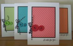 Dotty for You Note Card Set - love the versatility of this paper pack!