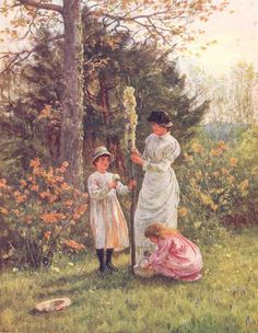 'The Children's Maypole'  - by Helen Allingham http://www.helenallingham.com/GalleryPictures/HE031.htm