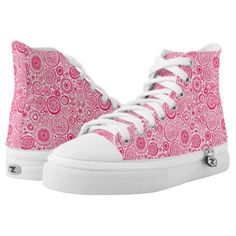 #customize - #Cute pink abstract circles patterns High-Top sneakers