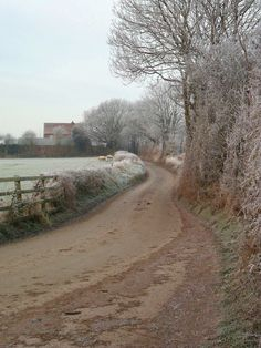 Daniels Lane in the frost, Aldridge, Walsall, England  All Original Photography by http://vwcampervan-aldridge.tumblr.com