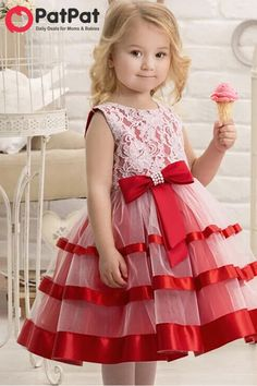 Pink Dresses For Kids, Wedding Dresses For Girls, Cute Outfits For Kids, Little Girl Dresses, Girls Dresses, Flower Girl Dresses, Frock Patterns, Dress Anak, Baby Frocks Designs
