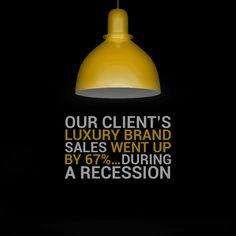 Our client's luxury brand sales went up by 67%...during a recession.  #adsynergy #itswhatwedo