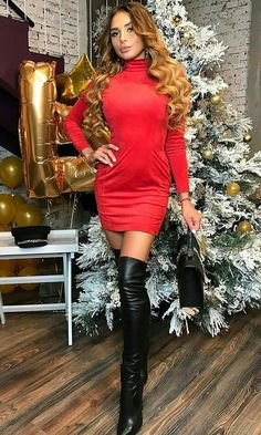 Long boats outfit black thigh highs ideas for 2019 Casual Winter Outfits, Sexy Outfits, Dress Outfits, Dresses, High Leather Boots, High Heel Boots, Red Leather, Boating Outfit, Hot High Heels