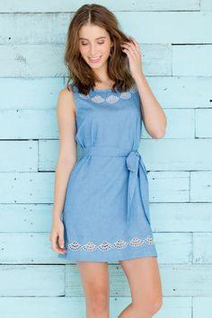 Reyna Chambray Dress