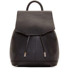Rag And Bone Black Leather Mini Pilot Rucksack (€490) ❤ liked on Polyvore featuring bags, backpacks, backpack, genuine leather backpack, mini backpack, leather studded backpack, studded backpack et leather knapsack