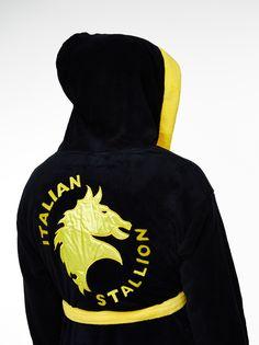 Rocky Balboa Men/'s Luxury Bathrobe Italian Stallion Coat Fleece Bathrobe New