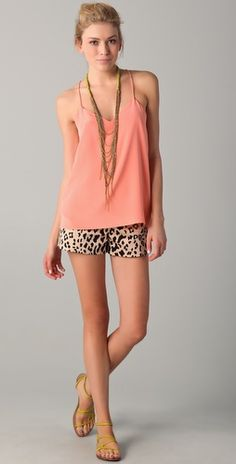 Tibi Cheetah print shorts...i need these. need.