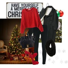 A fashion look from December 2014 featuring Chicnova Fashion sweaters, J Brand pants and ALDO pumps. Browse and shop related looks.
