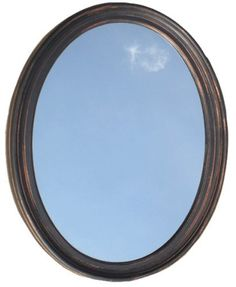 Decorative Oval Framed Wall Mirror - Oil Rubbed Bronze