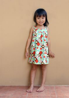 PDF Pattern - Perry Dress for 12M - 5T and tutorial.. $5.95, via Etsy.