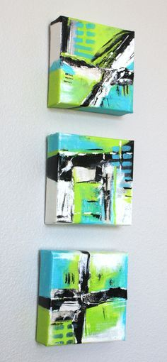 Originele Collage Mixed Media kunst Abstract op canvas