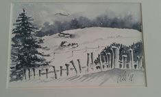 Val Ridanna in watercolor