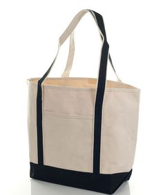 67990bf34a6a BEACH BAGS · Take a look at this Natural  amp  Black Sun Seeker Canvas  Shopper by TOPPERS on