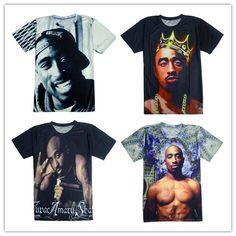 d907113ed Online Shop 2016 Summer style rap stars tupac Print t shirt men/women Tops  camisa masculina hip hop t shirt size S-XXL