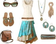"""Bohemian in Turquoise"" by shinimegamisan ❤ liked on Polyvore"