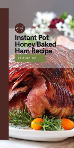 Instant Pot Honey Baked Ham Recipe Get ready for the most tender and juicy Instant Pot Honey Baked Ham. This recipe will put you on the biggest pedestal when it comes to cooking!. Be the next Master Chef of your Domain!. We're going to give you the recipe at the beginning and right below some cool notes and tips to get the best Honey Baked Ham. #InstantPot #Honey #Baked #Ham #Recipe #Instantpotrecipe #recipe #Bakedham #dinnerrecipe #dinner #pressurecookertips