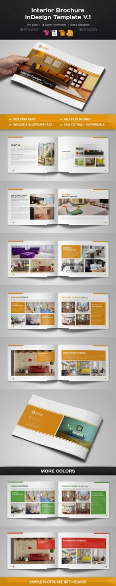 Interior Brochure Template INDD, Vector EPS, AI. Download here: http://graphicriver.net/item/interior-brochure-indesign-v1/15235044?ref=ksioks