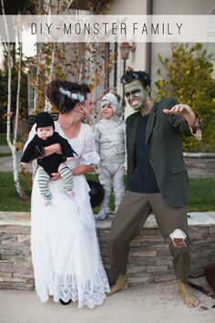 TELL: MONSTER FAMILY COSTUME DIY - Tell Love and ChocolateTell Love and Chocolate