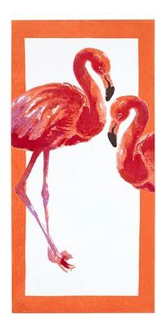 cute flamingo beach towel