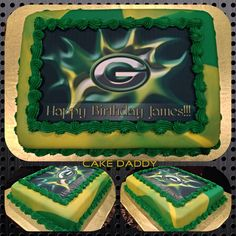 Green Bay Packers sheet cake.