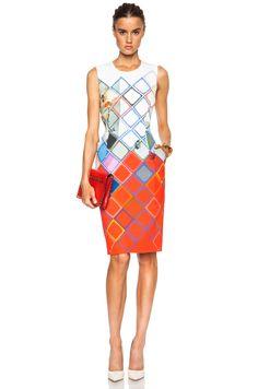 Preen by Thornton Bregazzi Issy Viscose-Blend Dress in Red Grid | FWRD