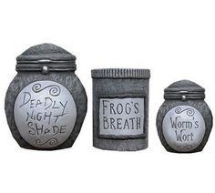 Toxiferous Designs: Nightmare Before Christmas Ceramic Storage Jars