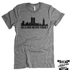 09.11.2001 Never Forget T-shirt. September 11 Shirt. Memorial Shirt. Patriotic Tee.