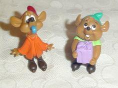 Disney Cinderella Birthday Jaq And Gus PVC Mice Figures $15
