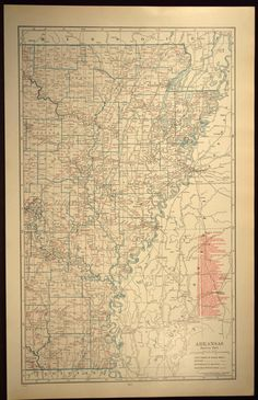 eastern arkansas map large arkansas railroad map east